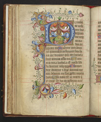 The First Penitential Psalm, from a Book of Hours